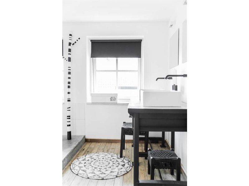 HK-Living Badmat rond katoen 80 cm