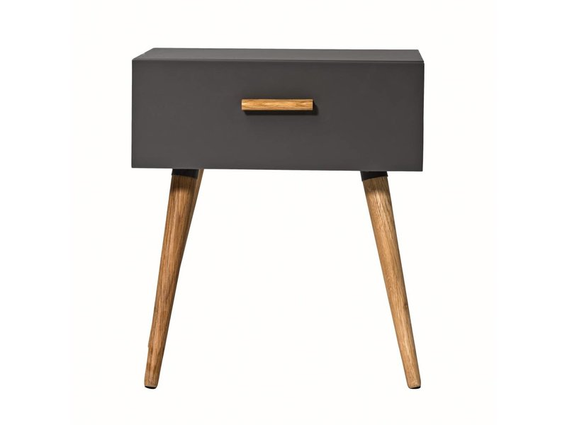 Bloomingville Cabinet dark grey wood