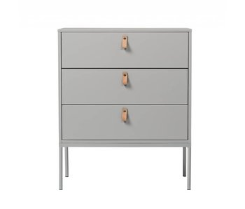 Bloomingville Cabinet light grey with 3 drawers