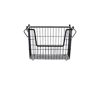 House Doctor TAW set of 6 iron baskets black