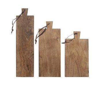 HK-Living Brotschneidebrett Holz 3er-Set