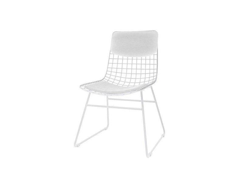 ... HK Living Dining Chair White Metal
