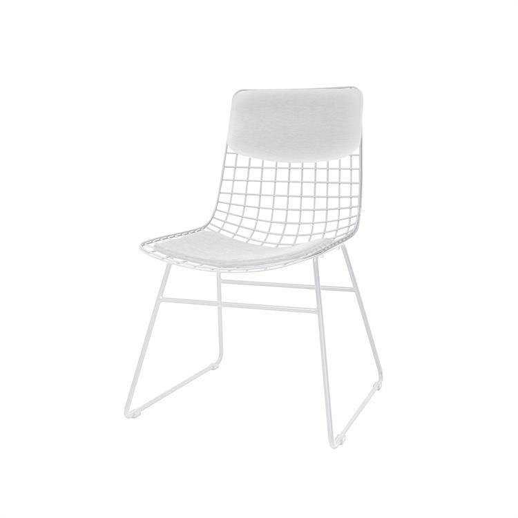Hk Living Dining Chair White Metal