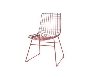 HK-Living Dining chair marsala red metal