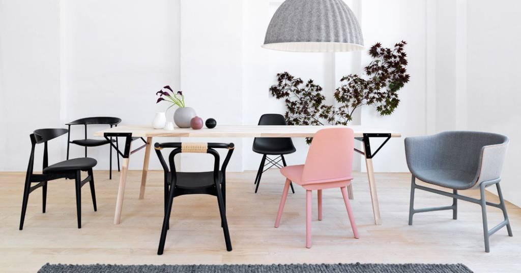 Normann Copenhagen Stoel : Normann copenhagen knot chair stoel zwart hout living and co