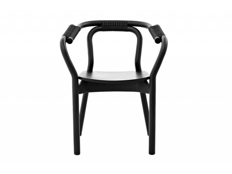 normann copenhagen knot chair stoel zwart hout living and co. Black Bedroom Furniture Sets. Home Design Ideas