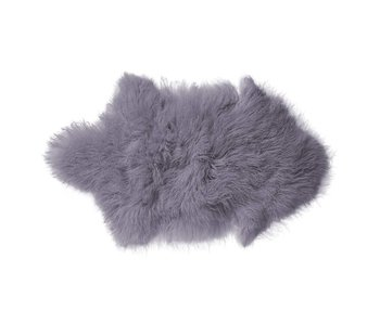 Bloomingville Sheepskin purple 100% wool