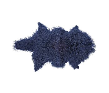 Bloomingville Sheepskin navy blue 100% wool