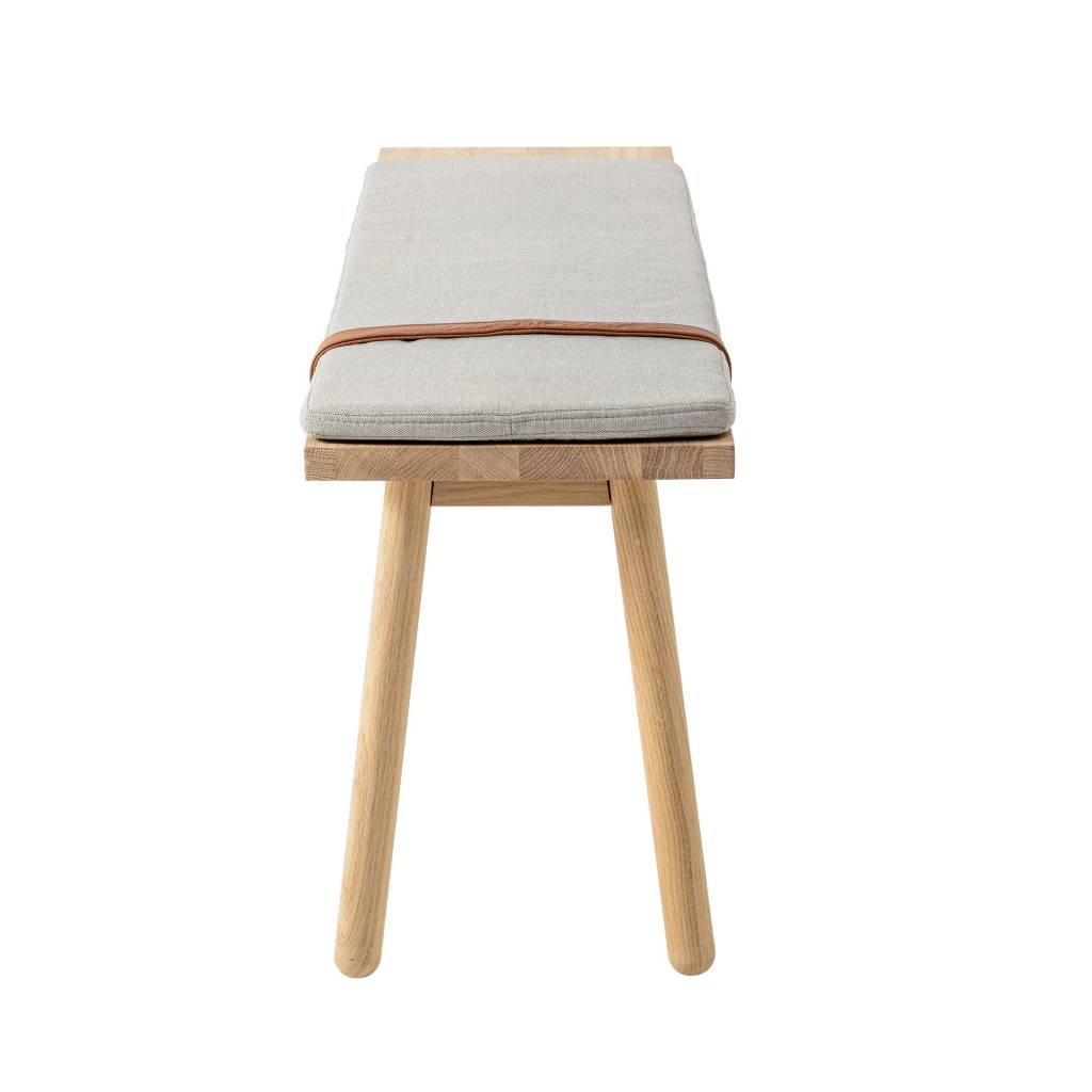 ... Bloomingville Straight Wooden Bench With Cushion ...