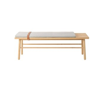 Bloomingville Straight wooden bench with cushion