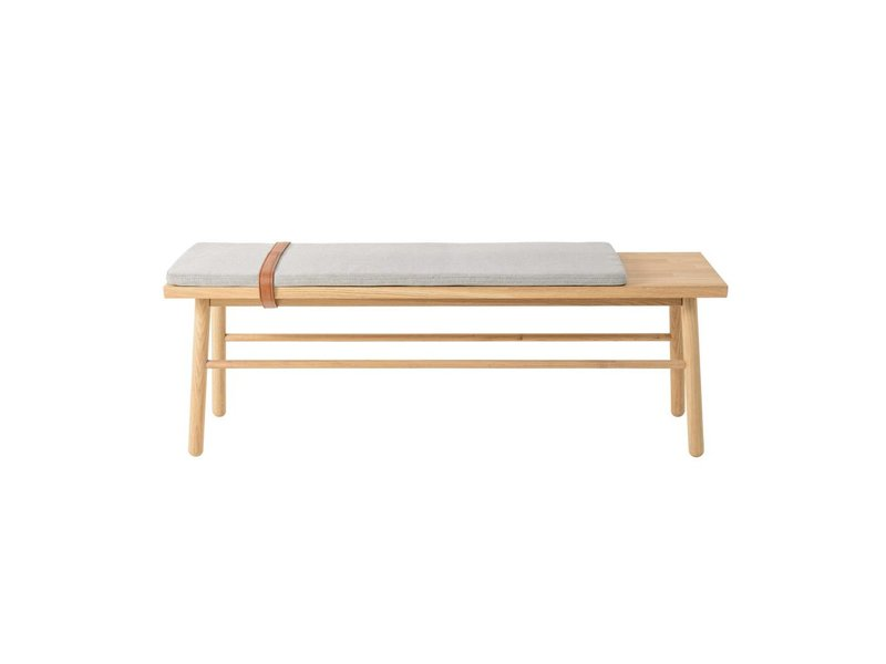Bloomingville Straight Wooden Bench With Cushion Living