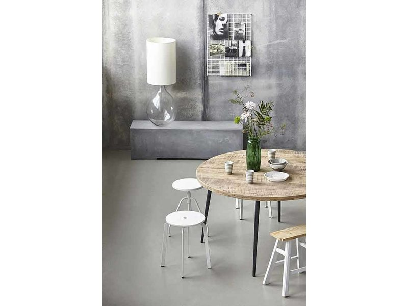 House doctor club ronde eettafel hout ijzer living and co.