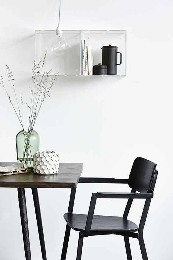 house doctor club eettafel zwart hout ijzer living and co. Black Bedroom Furniture Sets. Home Design Ideas