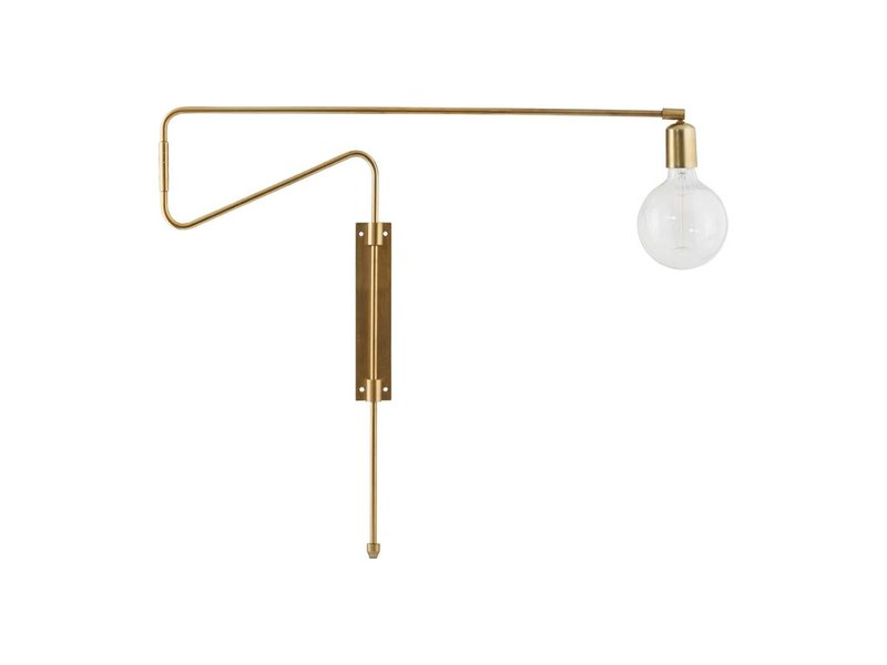 House Doctor Swing wandlamp messing ijzer verstelbaar - LIVING AND CO.