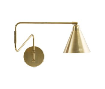 House Doctor Game wall lamp brass iron