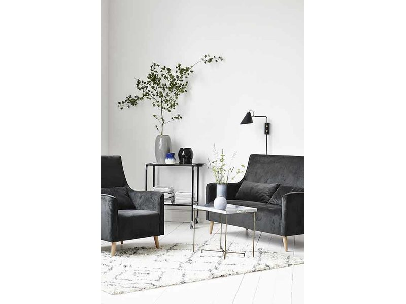 house doctor club wandlamp zwart metaal messing living and co. Black Bedroom Furniture Sets. Home Design Ideas