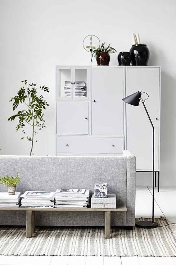house doctor club vloerlamp messing ijzer living and co. Black Bedroom Furniture Sets. Home Design Ideas