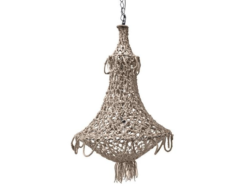 HK-Living Chandelier knudetov naturel