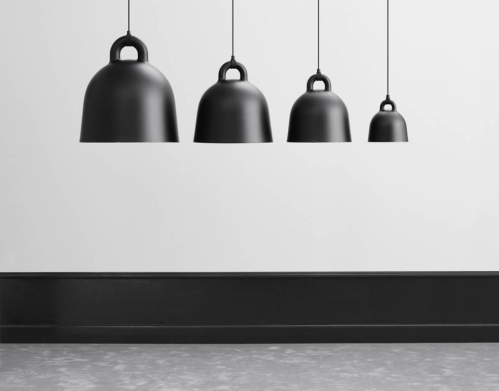 normann copenhagen bell large hanging lamp black living. Black Bedroom Furniture Sets. Home Design Ideas