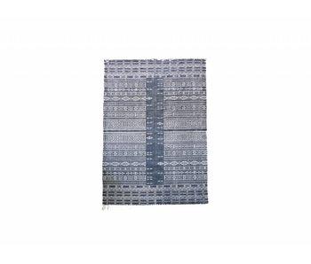 House Doctor Julia Teppich 160x230 cm schwarz und weiß Baumwolle
