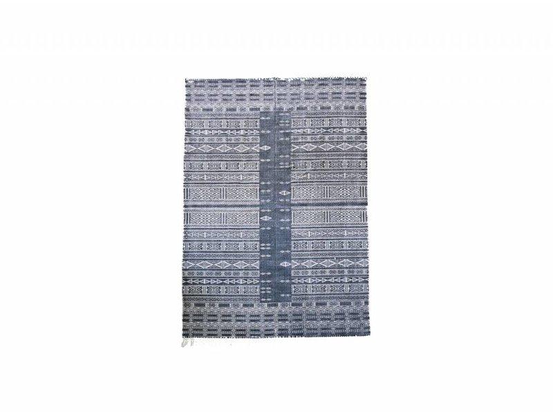 house doctor julia vloerkleed katoen grijs wit 160x230 living and co. Black Bedroom Furniture Sets. Home Design Ideas