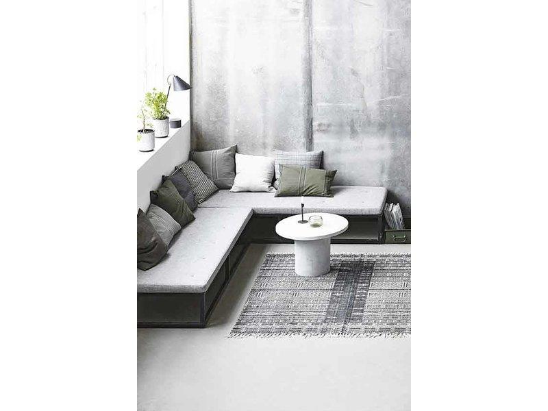 House doctor julia vloerkleed katoen grijs wit 160x230 for House doctor vloerkleed
