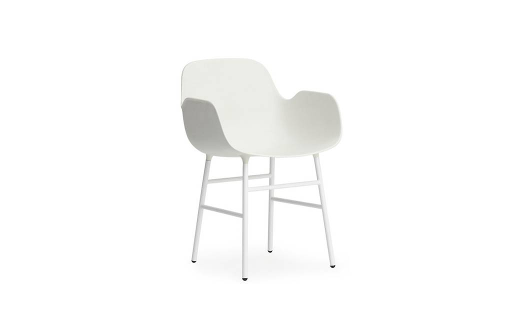 Normann CPH Form Armchair steel white - LIVING AND CO.