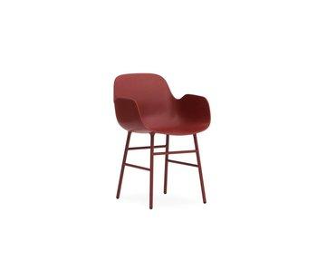 Normann Copenhagen Form Lænestol røde stol stål