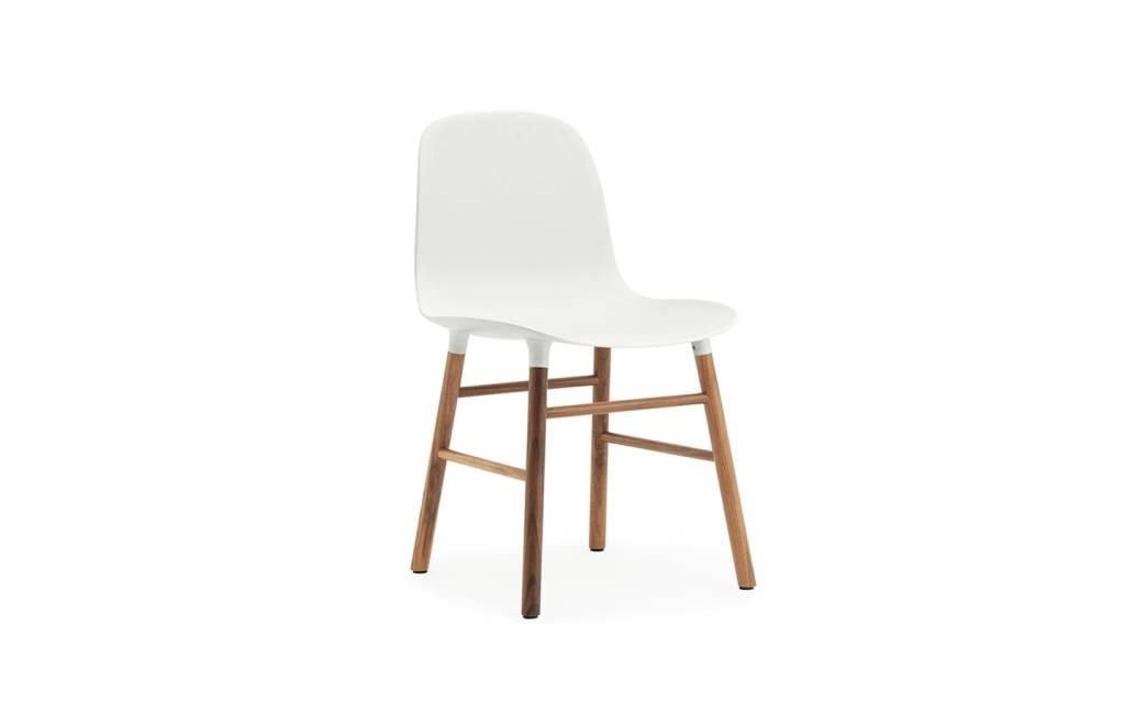normann copenhagen form chair walnut wood white living. Black Bedroom Furniture Sets. Home Design Ideas