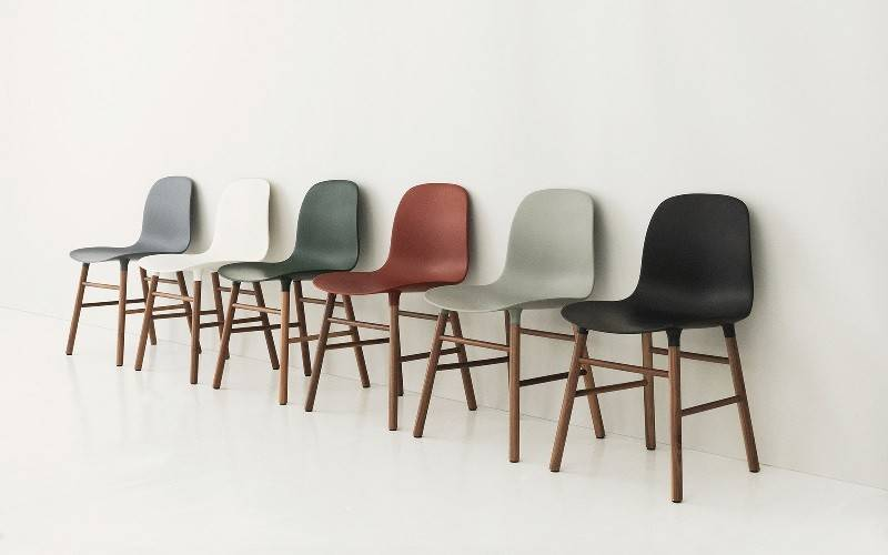 normann copenhagen form walnut grey living and co. Black Bedroom Furniture Sets. Home Design Ideas