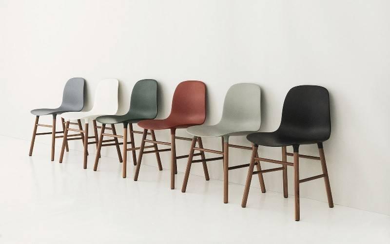 normann copenhagen form walnut red living and co. Black Bedroom Furniture Sets. Home Design Ideas
