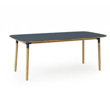 Normann Copenhagen Form table oak blue