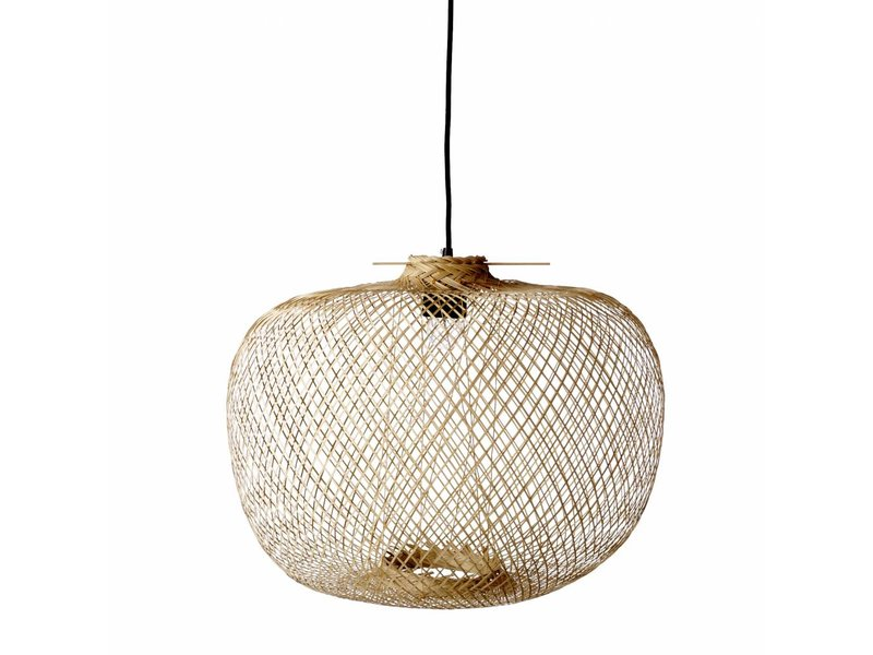 Bloomingville bamboo hanging lamp living and co for Lampe de bambou avignon