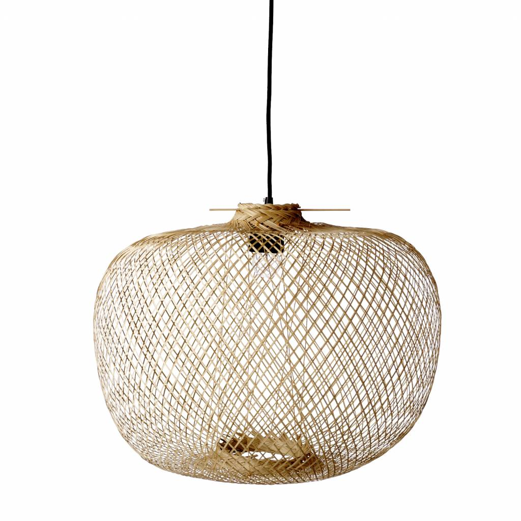 Bloomingville bamboo hanging lamp living and co - Suspension noire pas cher ...