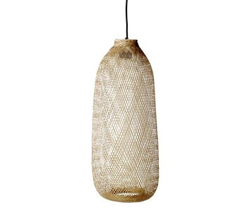 Bloomingville bamboo hanging lamp living and company for Lampe de bambou avignon