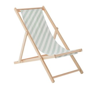 Bloomingville Deck chair diagonal stripes