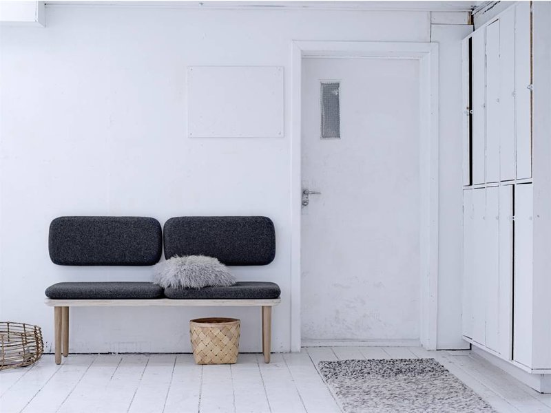 bloomingville welcome bench sofa dark grey living and co. Black Bedroom Furniture Sets. Home Design Ideas