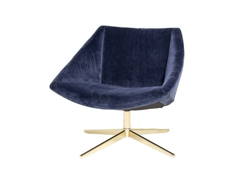 bloomingville elegant upholstered armchair blue velvet. Black Bedroom Furniture Sets. Home Design Ideas