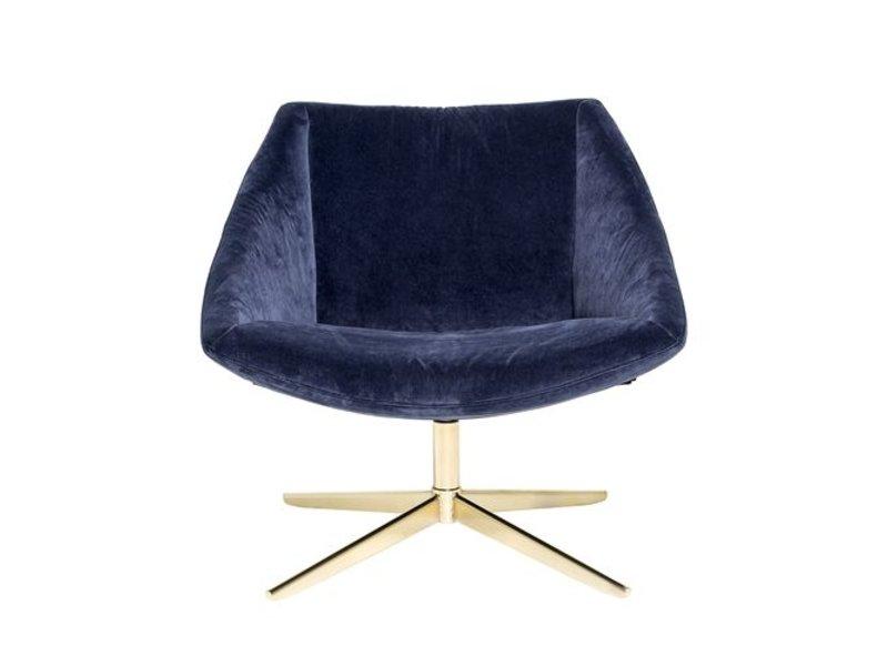 Bloomingville Elegant Upholstered Armchair Blue Velvet