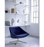 Bloomingville Eleganter blauer Samt-Sessel