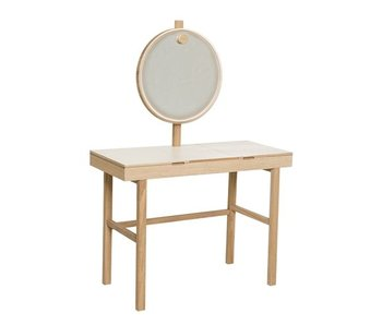 Bloomingville Phine make-up tafel wit naturel hout