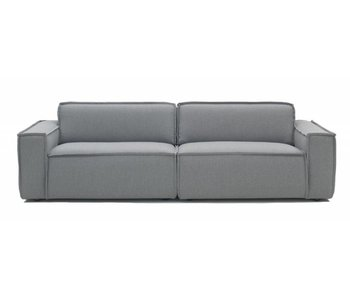 FEST Amsterdam Edge sofá sofá de tela de color gris claro Sydney 91