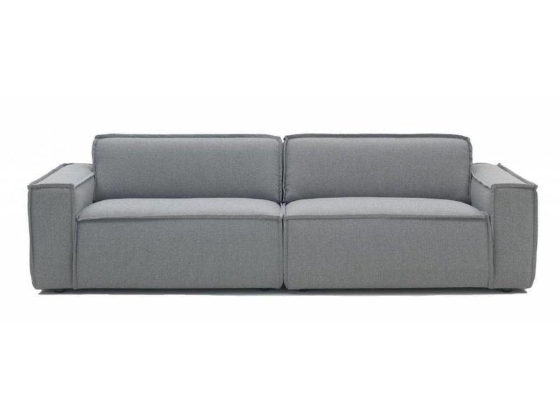 Edge bank sofa stof sydney 91 lichtgrijs - LIVING AND CO.