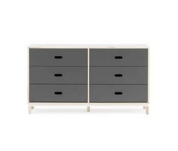 Normann Copenhagen Kabino dresser with 6 drawers grey