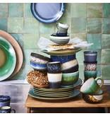 HK-Living Middag plade keramisk grøn