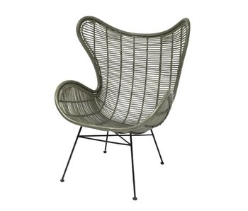 HK-Living Rattan egg chair olive