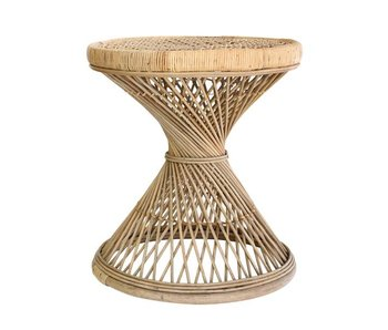 HK-Living Natural rattan side table
