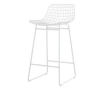 HK-Living Metal wire chair white
