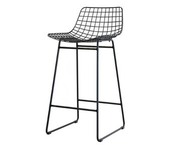 HK-Living Metal wire chair black