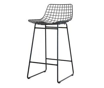 HK-Living Metall-Draht-Stuhl schwarz